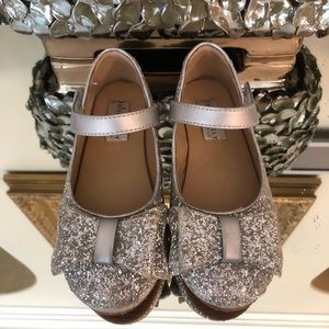 Like new! Trish Scully glitter silver Mary Janes